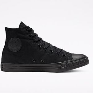 NWT Black Converse Hightops ( size 9)